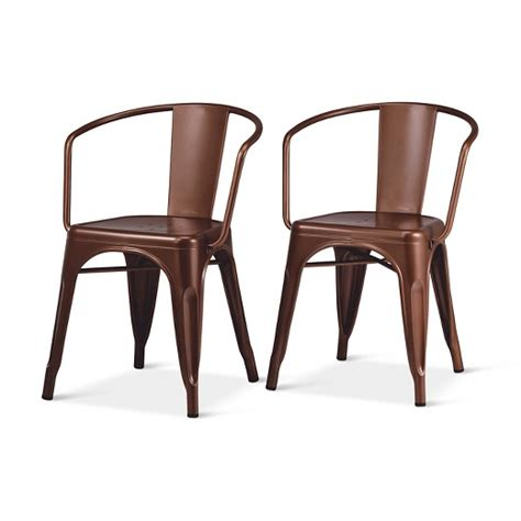 metal dining chairs target carlisle low back metal dining chair target