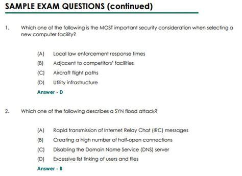 cissp certification  multiple choice tests