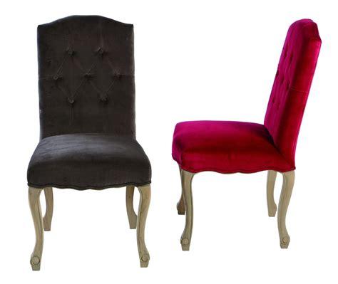 chaise velours chaise capitonnée en velours