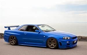 Nissan Skyline Gt R R34 Jdm Japan Stanceworks Stancenation Blue Cars Car Wallpapers Photos