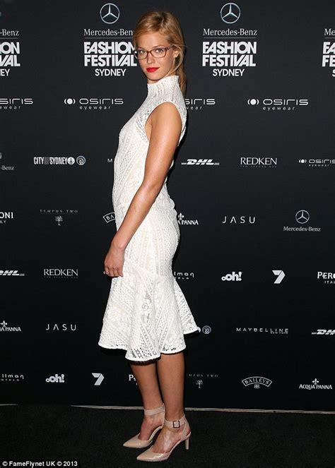 Sydney Fashion Week Erin Heatherton Rocks Geek Chic Specs