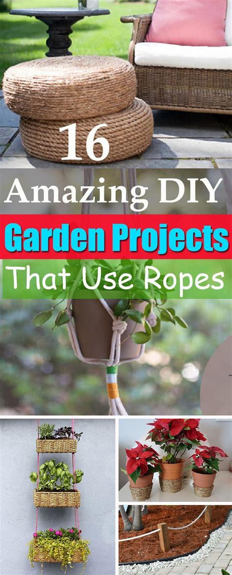 diy rope projects  ideas   garden balcony