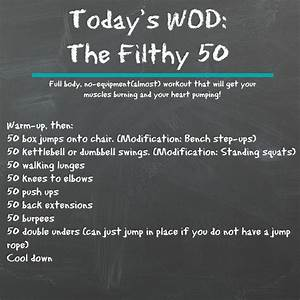 Wod  The Filthy 50  With Images