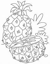 Pineapple Coloring Pages Fruits Adults Printable Half Cut Momjunction Fruit Print Children Strawberry Toddlers Popular Recommended Getcoloringpages Du sketch template