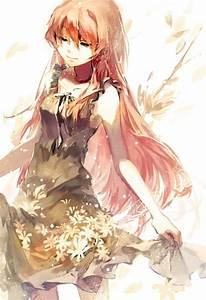 Vocaloid, Megurine, Luka, Long, Hair, Black, Dress, Ribbon, Flowers, Anime, Girls, Anime, Wallpapers