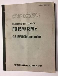 Komatsu Forklift Fb15m  18m