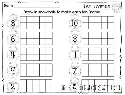 6 best images of printable ten frame worksheets blank