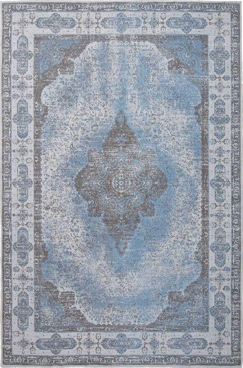 teppich vintage türkis vintage teppich retro hellblau flachgewebt