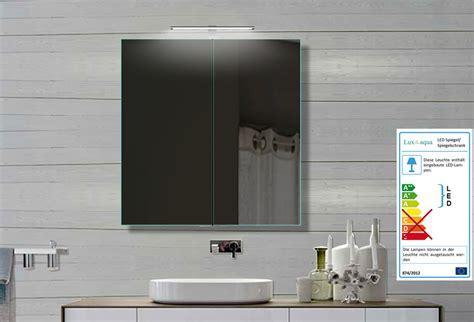 Lux-aqua Alu Badezimmer Spiegelschrank Mit Beleuchtung Led
