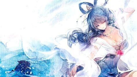 anime anime girls blue hair artwork kaku seiga touhou