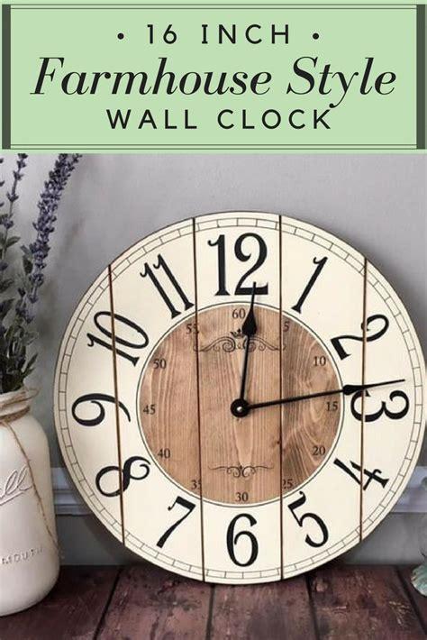 40580 farmhouse wall clock 16 inch farmhouse style wall clock this clock will add