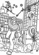 Coloring Bank Robber Goblin Spiderman Template Coloringsun Pursue Drawings While Sun Sketch sketch template