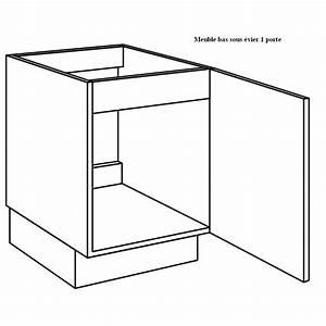 Meuble Sous Evier 90 Cm : meuble sous vier de cuisine largeur 60cm ~ Dailycaller-alerts.com Idées de Décoration