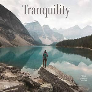 Daily Monthly Calendar Tranquility Calendar 2018 Calendar Club Uk