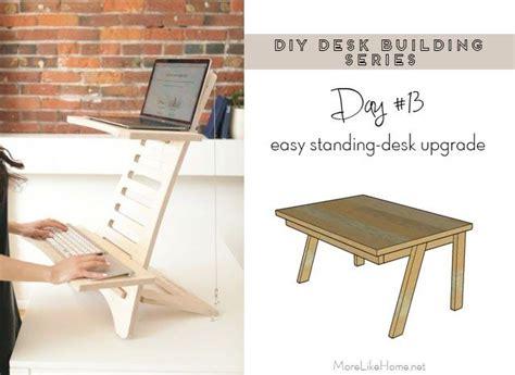 diy desk series  standing desk conversion platform