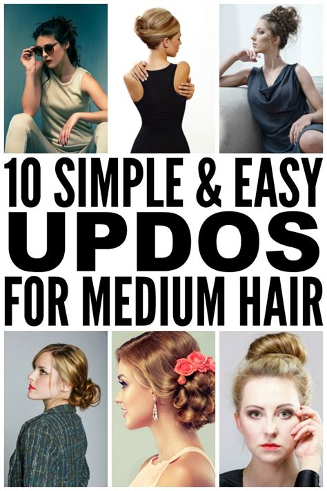 10 easy (& glamorous ) updos for medium length hair