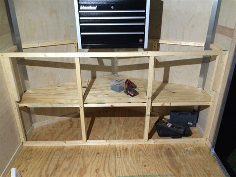 V Nose Trailer Cabinet Stuff I Built Pinterest Cargo