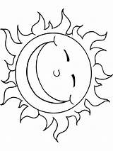 Sun Coloring Printable Recommended Mycoloring sketch template