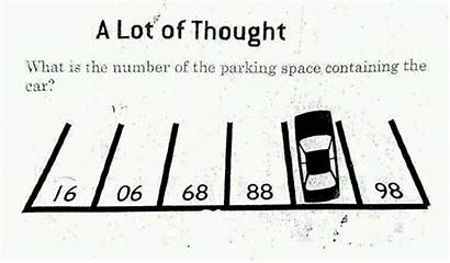 Brain Visual Teasers Teaser Parking Lot Starter
