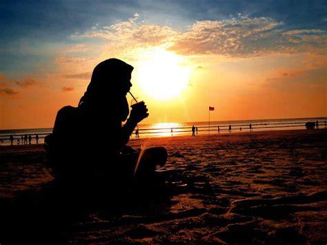 pantai kuta bali sunset  pesonanya  malam hari