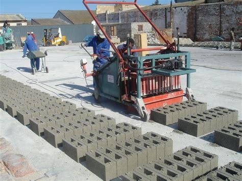 sandcrete block manufacturing  testing