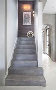inspirations montees d39escaliers originales escalier With couleur de peinture tendance 6 beton colore de la couleur dans votre interieur travaux