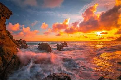 8k Sunset Ocean 4k Wallpapers Resolution Backgrounds