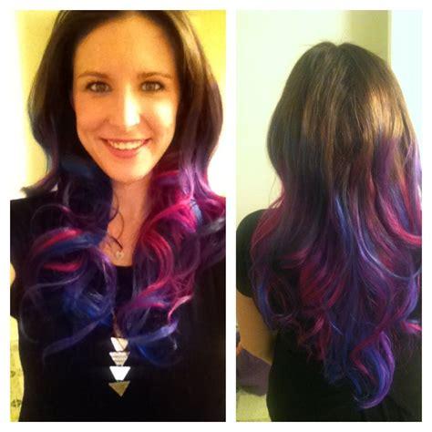My Dip Dye Tie Dye Bejeweled Rainbow Hair Whatever