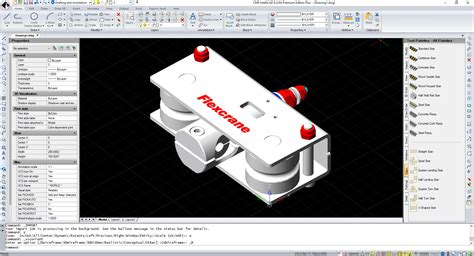 intellicad cms iges step software mechanical cadprofi import export 3d techyv 2d