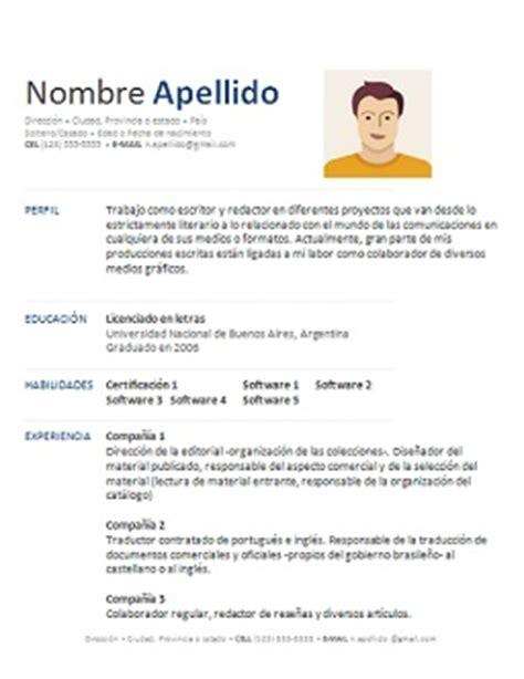 modelos de resume en espanol gratis 28 images modelos