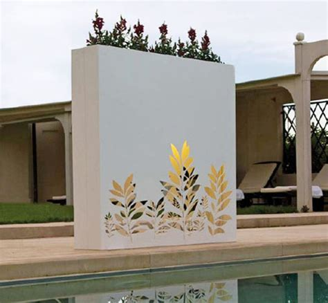 wall designs for outside outdoor wall pots and planters design by bysteel home design and interior