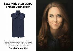 Kate Middleton wears French Connection pussy bow in ...