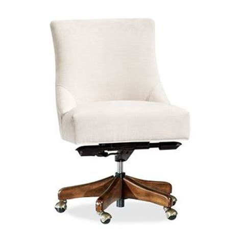 tufted swivel desk chair hayes non tufted swivel desk chair from pottery barn new