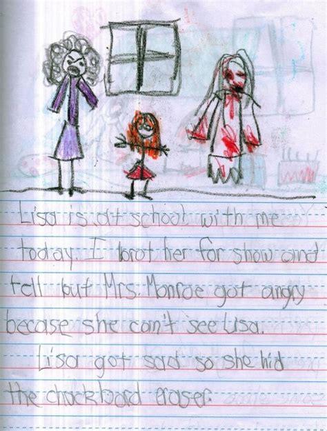 kid wrote  horror story   legitimately bone