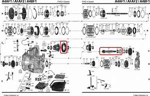 Primary Gear Set 74   21 Automatic Transmission A4bf1 A4bf2 A4bf3 A4af1 A4af2 A4af3 99