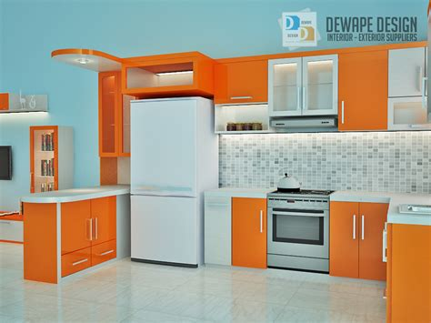 design kitchen set mini bar kitchen set nuansa orange malang kitchen set di malang 8630
