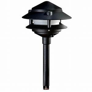 Hampton bay low voltage watt black halogen mushroom
