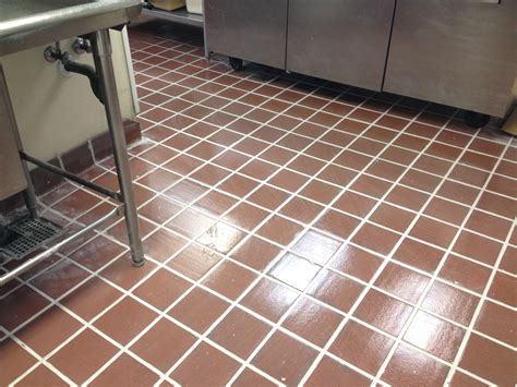 clean kitchen floor grout re grouted epoxy kitchen floor for a restaurant kitchen in 5440