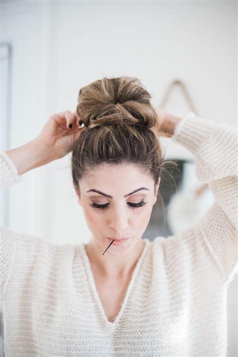 Beauty Easy Topknot Tutorial Lauren Mcbride