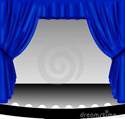 blue stage curtain royalty  stock images image