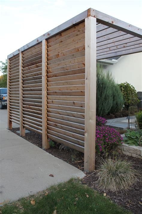 Louvered Garden Privacy Wall Httpswwwhomedepotcaen
