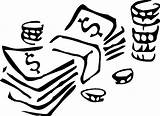 Money Coloring Pages Kidprintables Return Main Miscellaneous sketch template