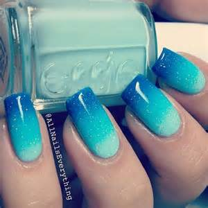 Blue nails for
