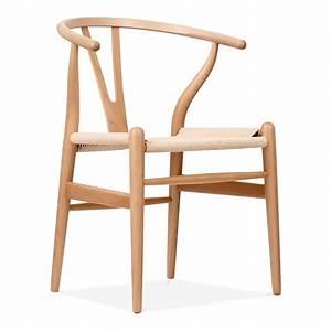 Chaise Bois Design : chaise de style wishbone en bois naturel chaise design cult uk ~ Teatrodelosmanantiales.com Idées de Décoration