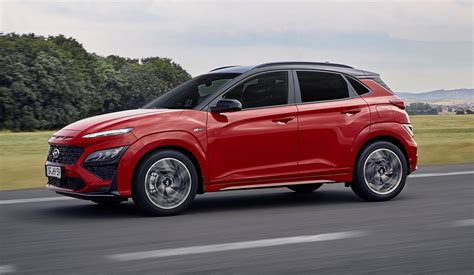 The kona crossover joins the n brand's ranks this year; 2021 Hyundai Kona revealed, debuts N Line with up to 145kW ...