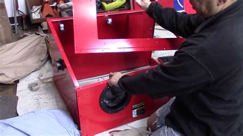 Harbor Freight Sandblast Cabinet Modifications by Harbor Freight 40lb Blast Cabinet Assembly And Review