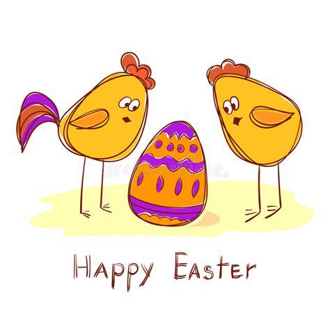 Martillo Gallina Y Cesta De Pascua Con Los Huevos Del