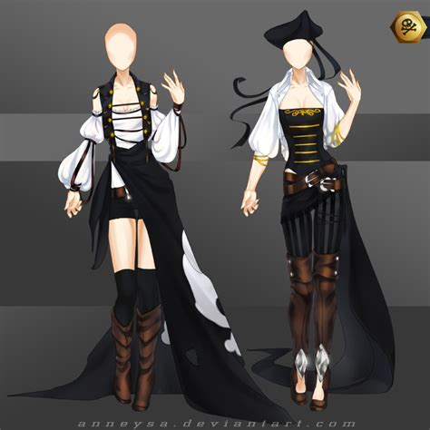 [Closed]Adoptable Outfit (pirates 1-2) by Anneysa on DeviantArt