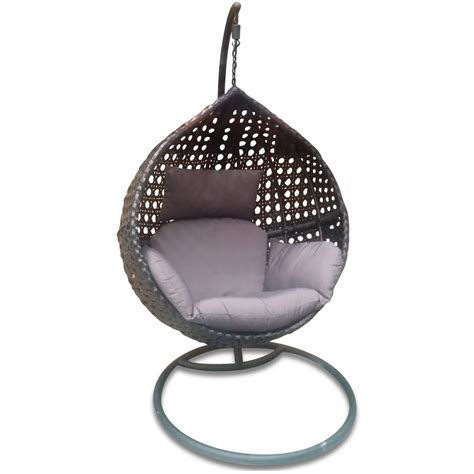 outdoor hanging nest chair bare outdoors
