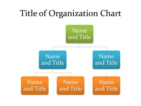 basic organization chart business charts templates